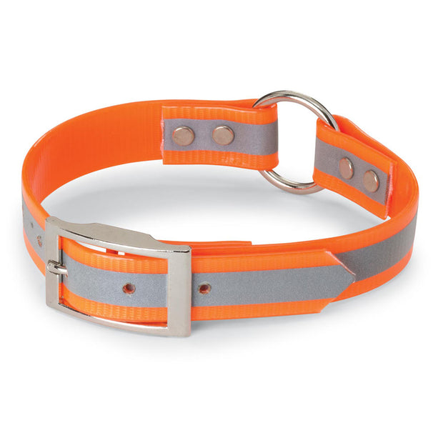 "Nite Lite 1"" Day-Glo Collar Ring-N-Center with Reflective Strip"