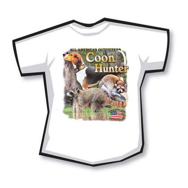 "100% Cotton T-Shirt - ""Coon Hunter"" Design"