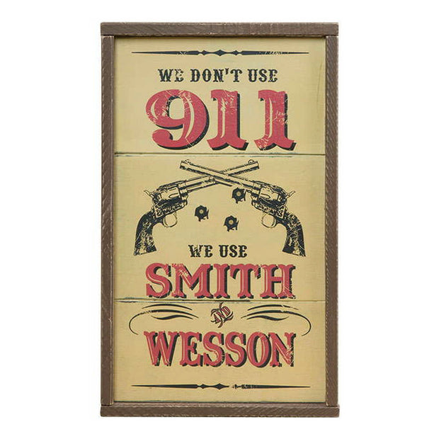 Wood Smith & Wesson Wall Sign