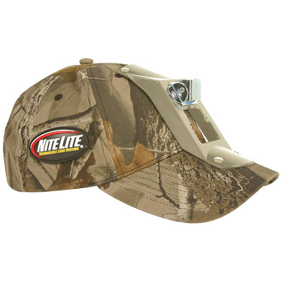 Nite Lite Low Profile Camo Hat With Headlamp Bracket