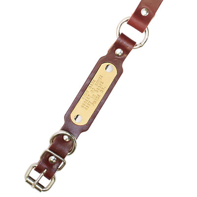 Leather Ring-N-Center Beagle Collar