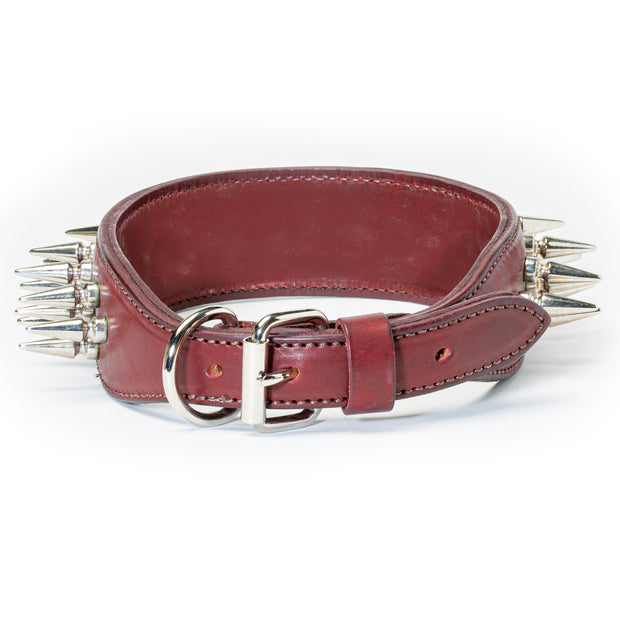 "2-Ply 2"" Leather Spike Collar"