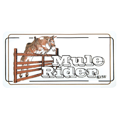 Mule Rider License Plate