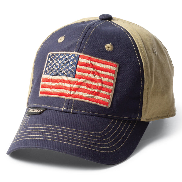 Realtree Embossed American Flag Hat