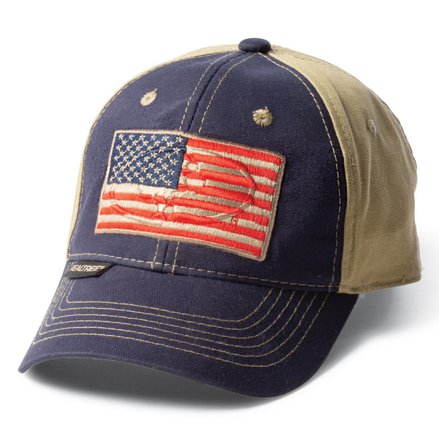 Mossy Oak Embossed American Flag Hat