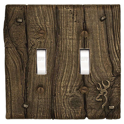 Browning Double Light Switch Cover