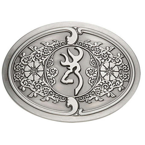 Browning Buck Mark Scroll Belt Buckle