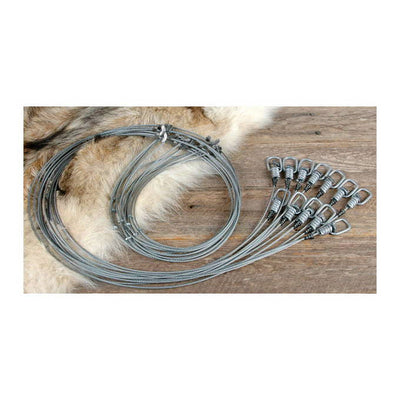 Game Trapping 5' Swivel Snares With Deer Stop
