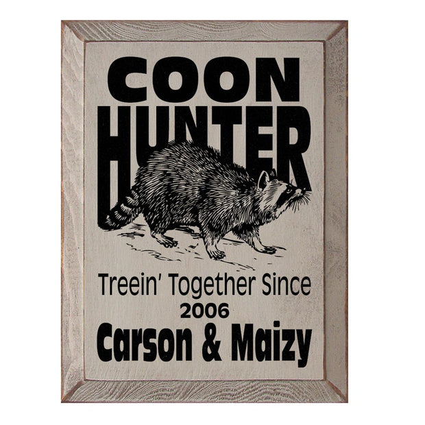 Coon Hunter Plaque