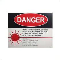 5200200 - Laser Danger Sign – Waterlase MD, 1 qty