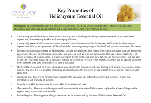 Organic Helichrysum Essential Oil for Pain, Rosacea, acne, eczema
