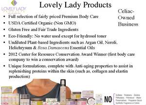 Award Winning Gluten Free Body Care and Organic Body Care
