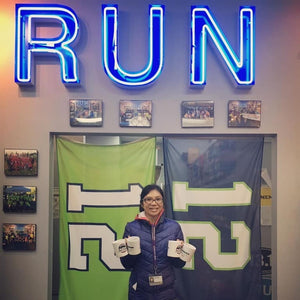 Huong Le has a goal of 30,000 steps per day and uses goal to win the Holiday Challenge