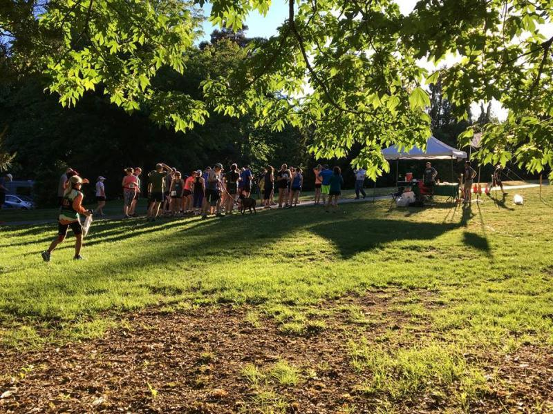 Woodland Park race finish