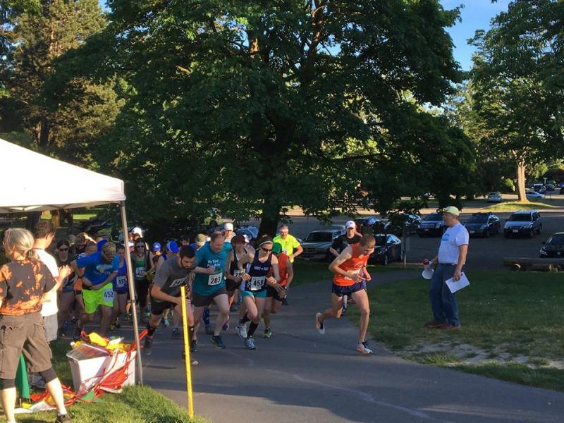 Woodland Park mid-race