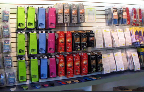 SHOES-n-FEET carries the larget range of insoles on the West Coast