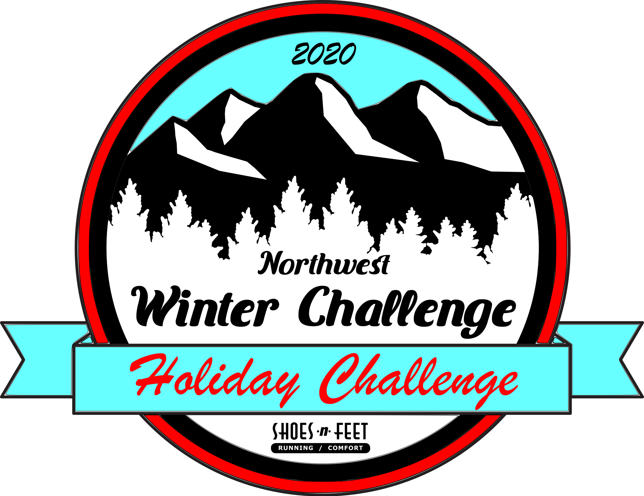 Northwest Winter Challenge Holiday Logo 2020