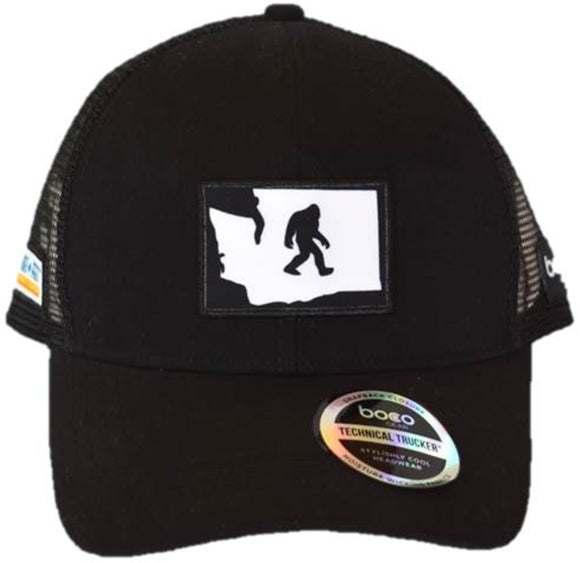 SHOES-n-FEET WASHINGTON STATE YETI HAT BLACK  - BOCO GEAR