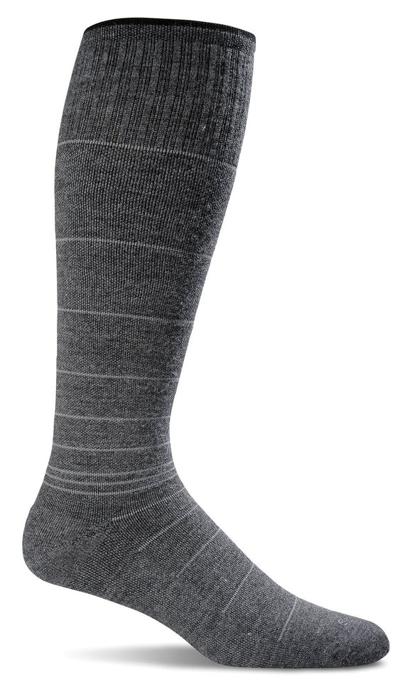 SOCKWELL CIRCULATOR STRIPE MEN COMPRESSION 15-20mmHG - SW1M-CHARCOAL