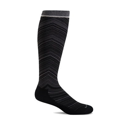 SOCKWELL FULL FLATTERY WIDE CALF BLACK COMPRESSION 15-20mmHG - SW57W-900