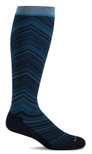 SOCKWELL FULL FLATTERY WIDE CALF NAVY COMPRESSION 15-20mmHG - SW57W-900