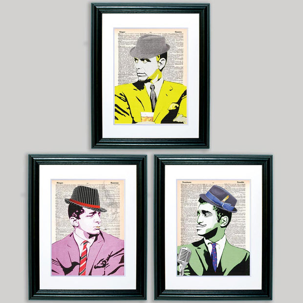 The Rat Pack Framed Trio