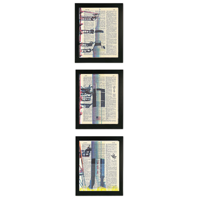 Apollo 11 Framed Triptych