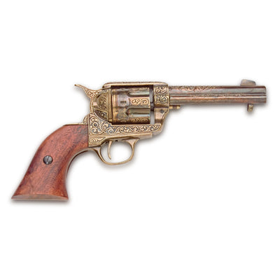 Old West Replica Fast Draw Gold Engraved Revolver