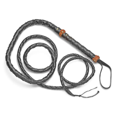 Old West Braided Rawhide Bullwhip