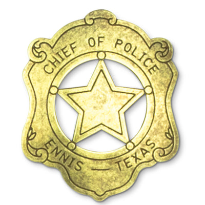 Chief Of Police Badge