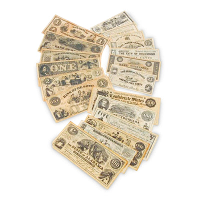 Replica Civil War Paper Currency