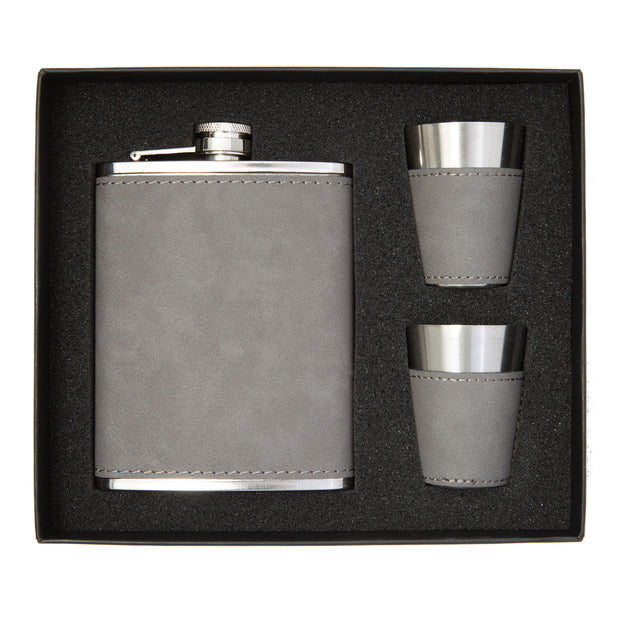 Personalized Flask and Two Cups
