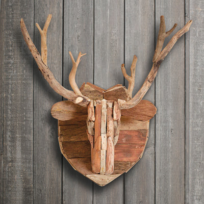 Driftwood Deer Head Wall Decor