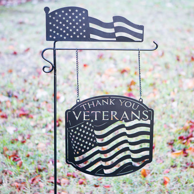Thank You Veterans Metal Sign