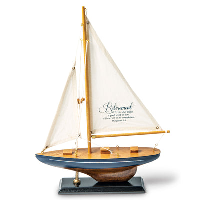 Wooden Retirement Sailboat