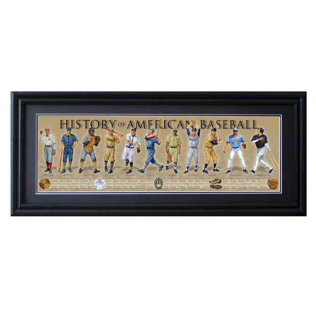 History of American Baseball Framed