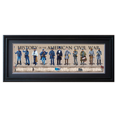 History of American Civil War Framed