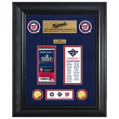 Washington Nationals World Series Ticket and Coin Collection