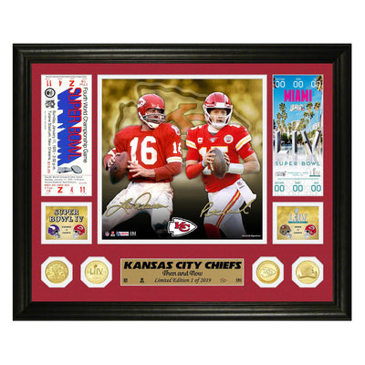 Kansas City Chiefs Super Bowl Then and Now Photo Mint