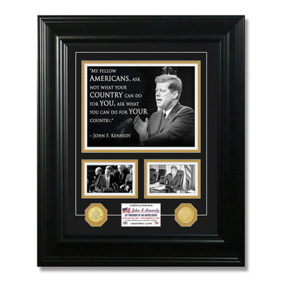 John F. Kennedy Framed Quote