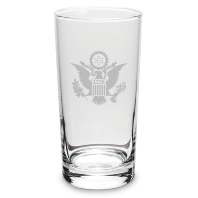Etched Eagle Crest Highball Glasses
