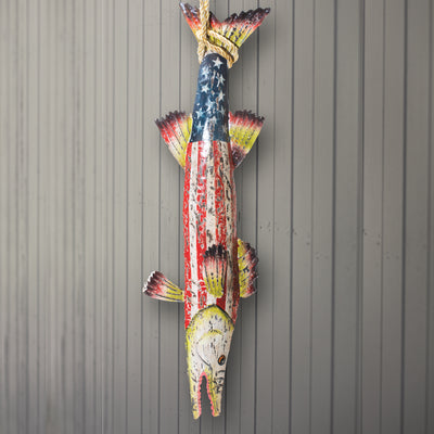 Hand Painted American Flag Barracuda