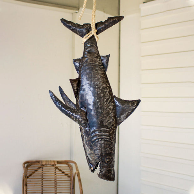 Hanging Metal Shark