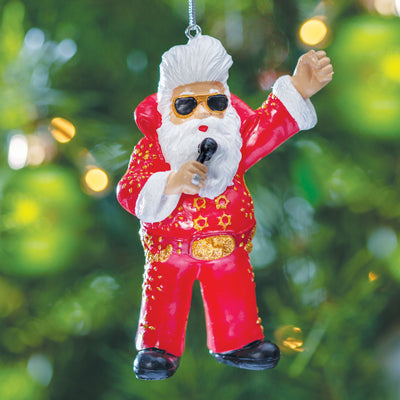 Elvis Santa Ornament