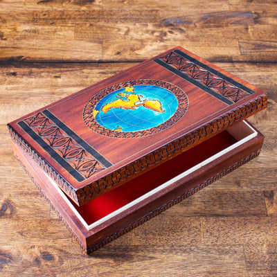 Around the World Wooden Box