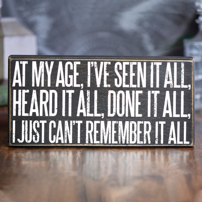 At My Age Sign