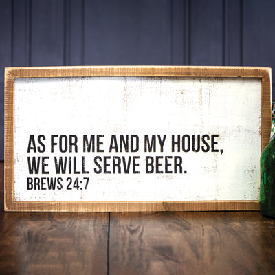 Serve Beer Box Sign