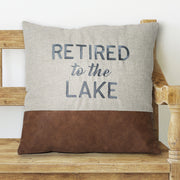Retired to the Lake Pillow