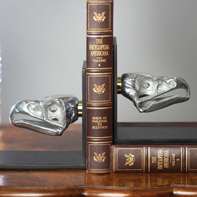 Eagle Skull Bookends