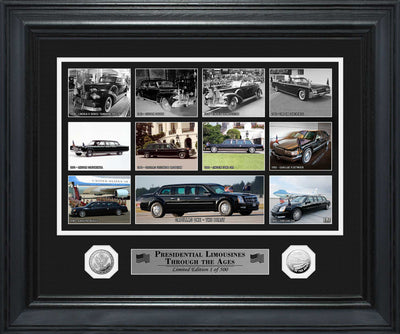 Presidential Limousines Framed Print